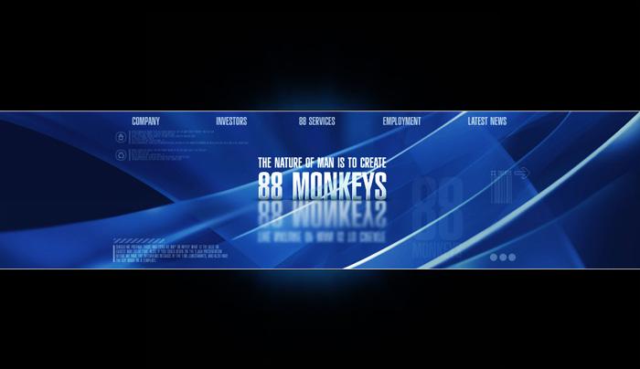 промо-страница для съемочной студии «88 Monkeys».